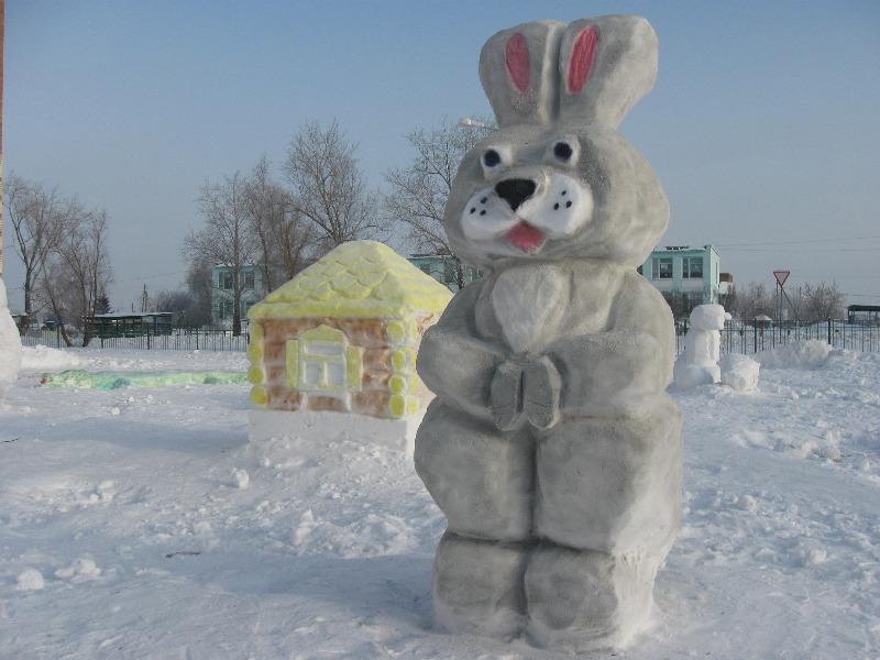 Снежные фигуры на новый год своими руками